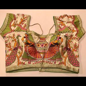 Pretty village motif blouse